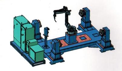 吴中H型变位机可扩展型机器人工作站